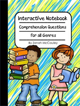 Interactive Notebook Comprehension Questions for All Genres FREEBIE