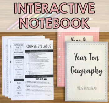 Interactive Notebook Contents Documents - EDITABLE