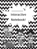 Interactive Notebook Cover *EDITABLE*