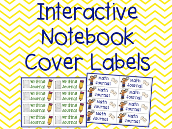 Interactive Notebook Cover Labels