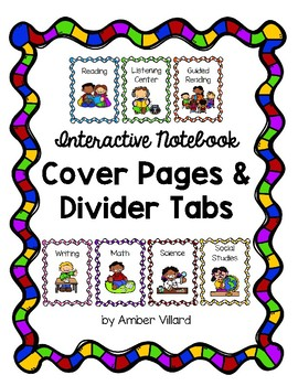Interactive Notebook Cover Pages and Divider Tabs