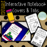 Interactive Notebook Cover & Tabs for Reading, Math, Socia