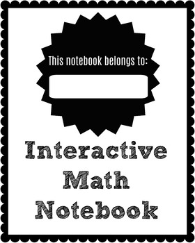 Interactive Notebook Covers