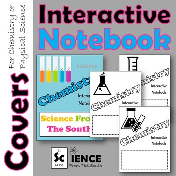 Interactive Notebook Covers for Chemistry
