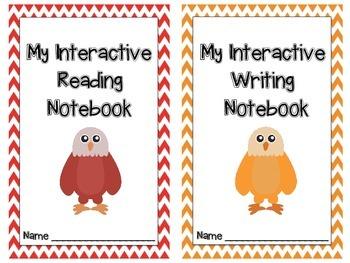 Interactive Notebook Covers with Tables of Contents Eagles and Bright Chevron