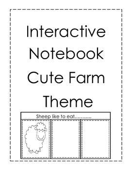Interactive Notebook-Cute Farm Theme