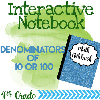 Interactive Notebook Denominator of 10 and 100