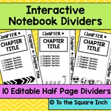 Interactive Notebook Dividers