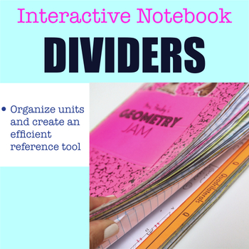 Interactive Notebook Dividers Bundle