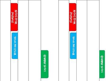 Interactive Notebook Dividers for Journeys