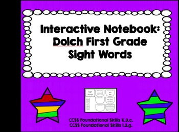 Interactive Notebook: Dolch First Grade Sight Words