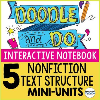 Interactive Notebook Doodle and Do - 5 Units on Nonfiction Text Structure