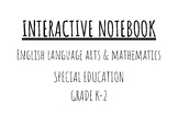 Interactive Notebook - ELA/Math