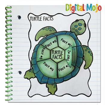 Interactive Notebook Editable Flaps Template - Turtle
