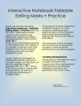 Interactive Notebook: Editing Marks + Practice
