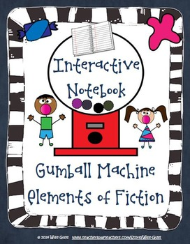 Interactive Notebook: Elements of Fiction Creative Gumball Activity