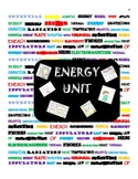 Interactive Notebook Energy Unit Middle School Science