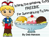 Interactive Notebook Entry FREEBIE: A Sundae Summary for fiction