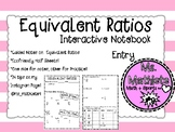 Interactive Notebook Entry on Equivalent Ratios