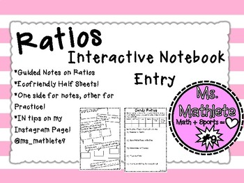 Interactive Notebook Entry on Ratios
