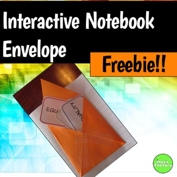 Interactive Notebook Envelope FREEBIE