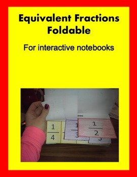 Interactive Notebook Equivalent Fractions Foldable