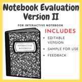 Interactive Notebook Evaluation Template II