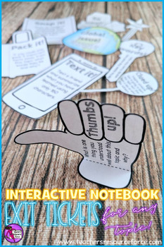 Interactive Notebook Exit Tickets for any topic - editable!