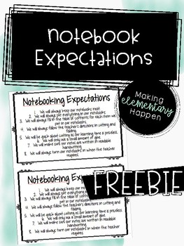 Interactive Notebook Expectations - Freebie!
