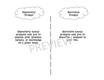 Interactive Notebook - Expository Vs. Narrative Prompts