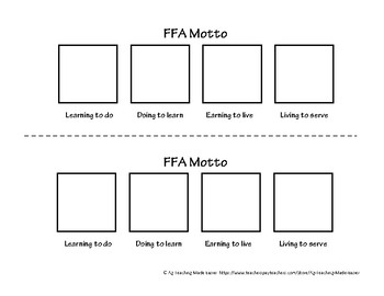Interactive Notebook: FFA Motto Comic