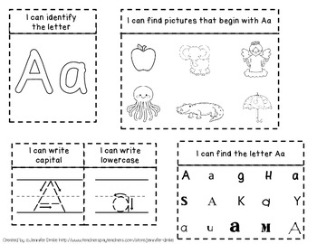 Interactive Notebook FREEBIE!  Hands On 'Aa' Fun For Little Letter Learners!