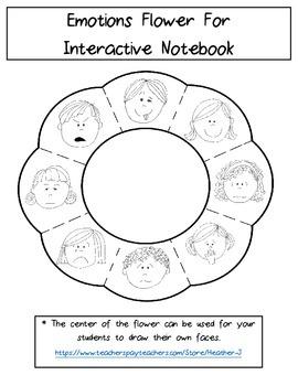 Interactive Notebook Feelings Flower {FREE}