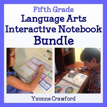 Interactive Notebook Fifth Grade Common Core Bundle - English Language Arts