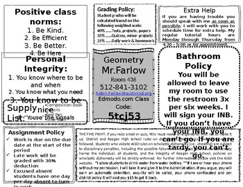 Interactive Notebook First Page Inserts - EDITABLE