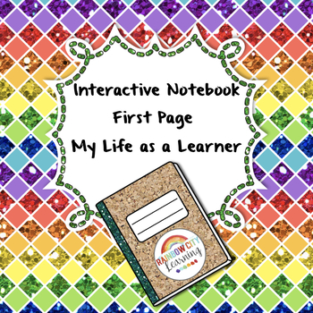 All About Me as a Learner Interactive Notebook First Pages