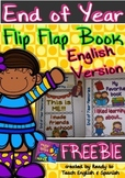 Interactive Notebook - Flip Flap mini-book - End of Year/ English Version