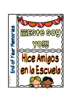 Interactive Notebook - Flip Flap mini-book - End of Year/ Spanish Version