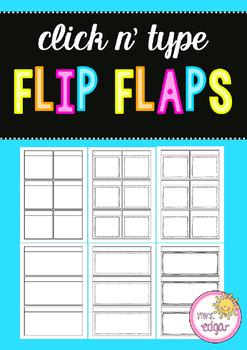 Interactive Notebook Flip Flaps - Editable!