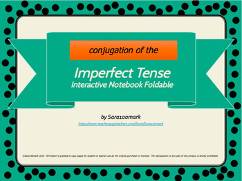 Spanish Interactive Notebook Foldable - El Imperfecto