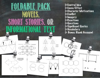 Interactive Notebook Foldable Pack for Reading Lit & Infor