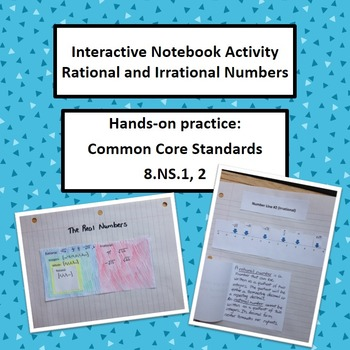 Rational Irrational Numbers Interactive Notebook Foldable Math 8.NS.1 2 Activity