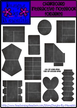 Interactive Notebook Foldable Templates {Chalkboard}
