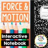 Force & Motion Interactive Notebook   Printable or Digital
