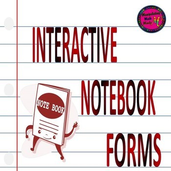 Interactive Notebook Forms