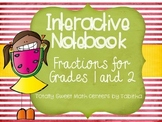 Interactive Notebook- Fractions for Grades 1 and 2