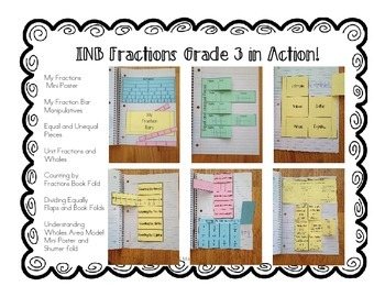 Interactive Notebook- Fractions for Grade 3