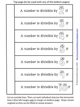 Interactive Notebook Freebie: Divisibility Rules