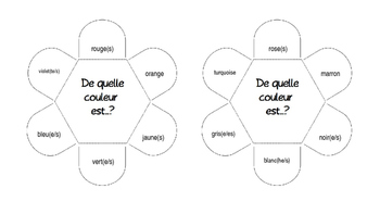 Interactive Notebook - French school supplies