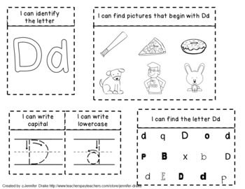 Interactive Notebook From A to Z!  ~ABC Journal for Little Letter Learners!~